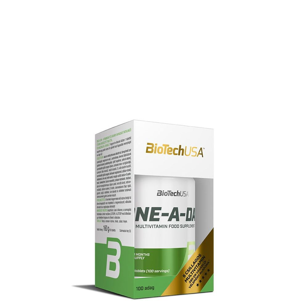BioTech USA - ONE-A-DAY - MULTIVITAMIN FOOD SUPPLEMENT - 100 TABLETTA