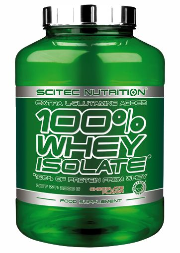 SCITEC NUTRITION - 100% WHEY ISOLATE - EXTRA L-GLUTAMINE ADDED - 2000 G