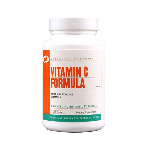 UNIVERSAL - VITAMIN C FORMULA - 500 MG - PURE CRYSTALLINE VITAMIN C - 100 TABLETTA (NA)
