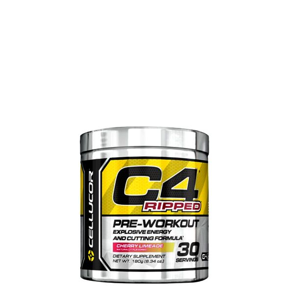 CELLUCOR - C4 RIPPED PRE-WORKOUT - EXPLOSIVE ENERGY AND CUTTING - 180 G (HG)