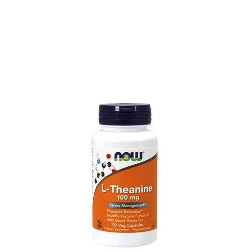 NOW - L-THEANINE - 100 MG - STRESS MANAGEMENT - 90 KAPSZULA (NA)